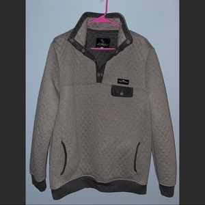 Gray quilted Simply Southern pullover XL